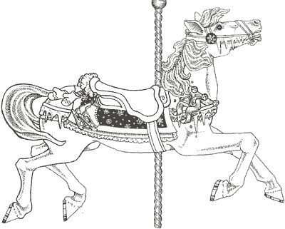 IColor Carousel Animals Penguin Coloring Pages For Adults