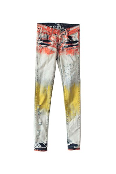 Paint Splatter Jeans. kind of seriously want these