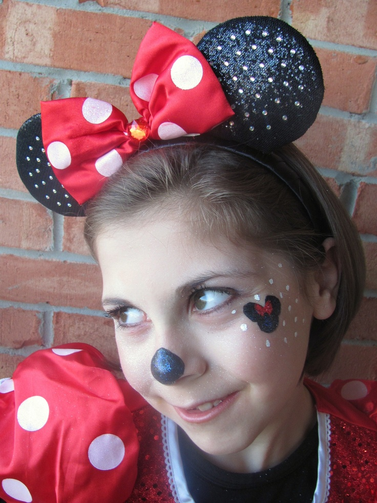 minnie mouse makeup makeup pinterest mice face paintings and makeup. Black Bedroom Furniture Sets. Home Design Ideas