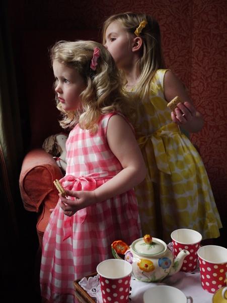 Rachel Riley Silk Gingham Dresses in Pink & Yellow