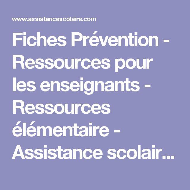 Fiches Prévention - Ressources pour les enseignants - Ressources élémentaire - Assistance scolaire personnalisée et gratuite - ASP