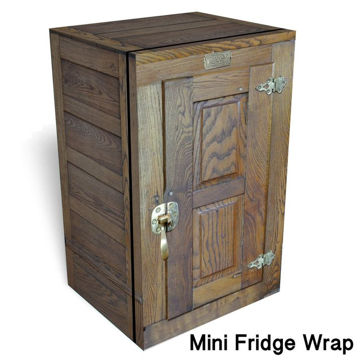 Icebox Mini fridge wrap This is a premium vinyl cover for your Mini fridge wrap. However, the final dimensions of the refrigerator sticker wrap are customized to fit your exact appliance. Please conta