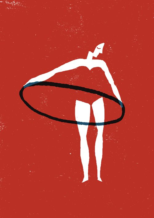 Hoop.: Hula Hooping, Ula Ula, Best Friends, Negative Spaces, Hula Girls, Illustration, Graphics Design, Hulahoop, Black White Red