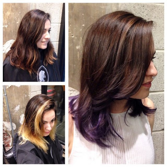I Transformed My Brown Mop Of Hair To A Choppy Violet ...