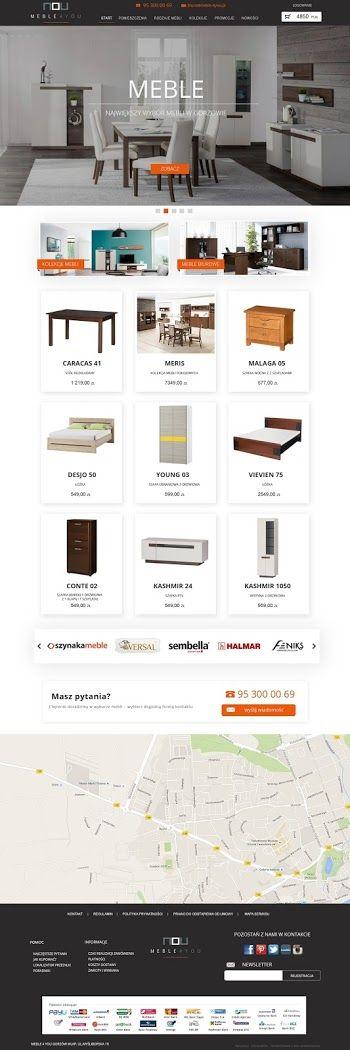Webdesign- furniture online shop www.meble-4you.pl #furniture #onlinestore #webdesign #shopdesign #meble #skleponline #4you #modern #design #interior