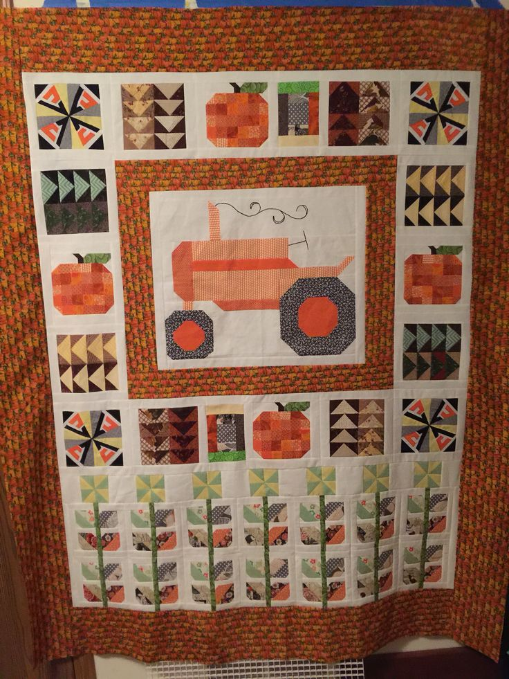 Allis Chalmers tractor quilt