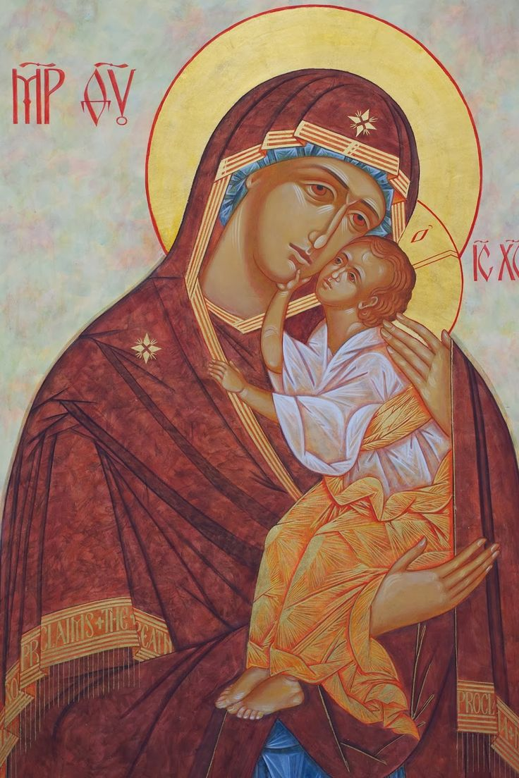 Rejoice - The Iconographic Arts Institute: Kathy Sievers Finishes Icons for St. Charles in Washington  The icon of the Mother of God and Christ: