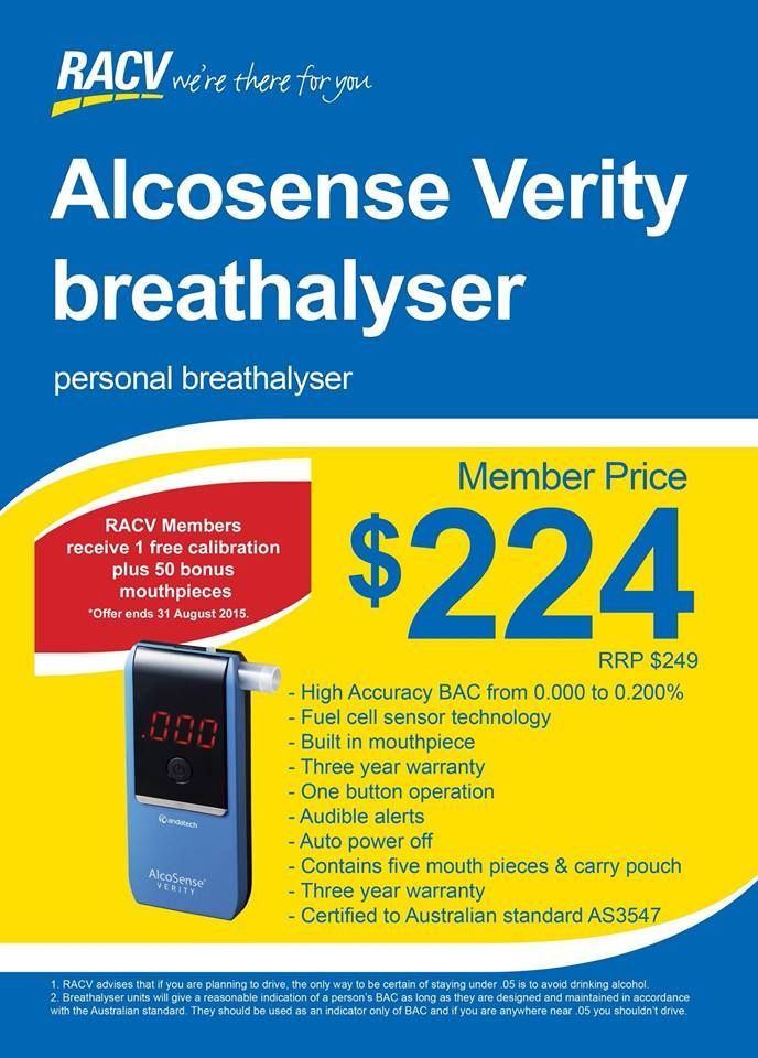 If you are on the lookout for a new breathalyser, Andatech has partnered with RACV to bring our customers a special deal!! RACV RACV RoyalAuto