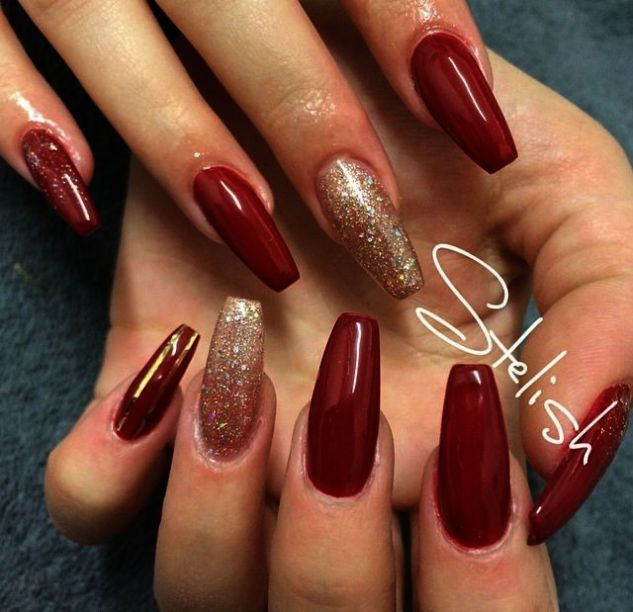 Butter London Nail Lacquer Cute Nails Club Gold Acrylic Nails Red Acrylic Nails Red Nails