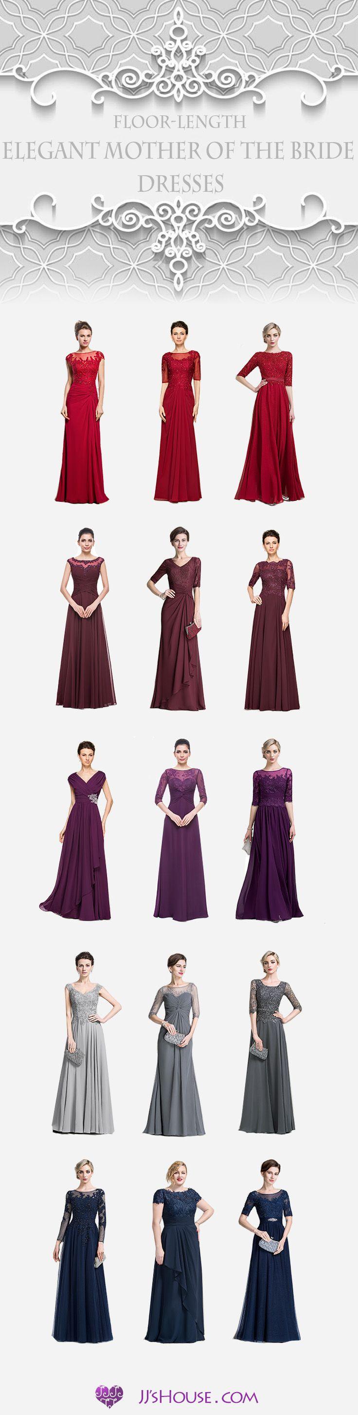 Floor-Length Elegant Mother of the Bride Dresses! #MotheroftheBrideDresses