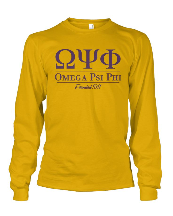 Omega Psi Phi Collegiate Long Sleeve
