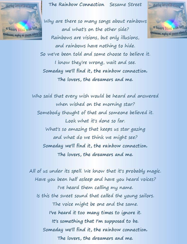Lyric rainbow connection lyrics : Best 25+ Rainbow connection ideas on Pinterest | My lil pony ...