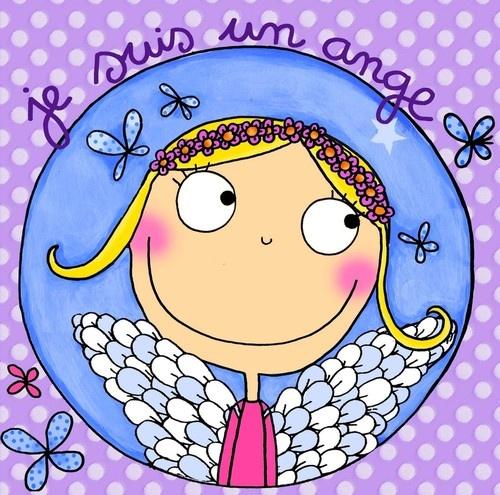 keladeco.com - tableau enfant je suis un ange, idée cadeau #naissance fille, déco chambre bébé