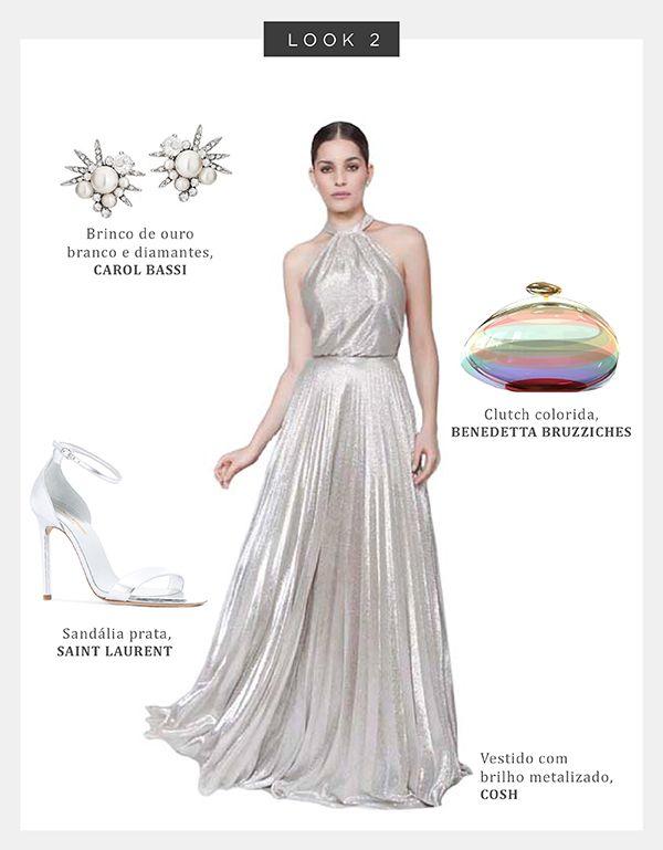 ac033b3be Look Madrinha: vestidos prata + acessórios - Constance Zahn | Casamentos