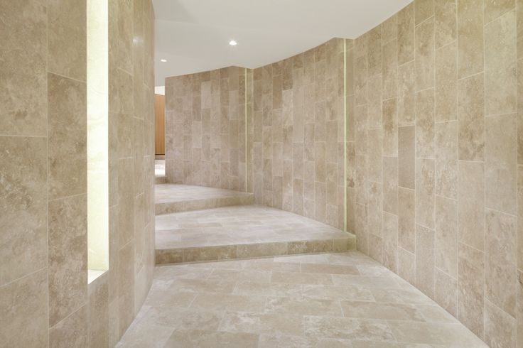 Travertine Entry. The Claremont - Bird de la Coeur Architects Interiors Hassell Photo Dianna Snape