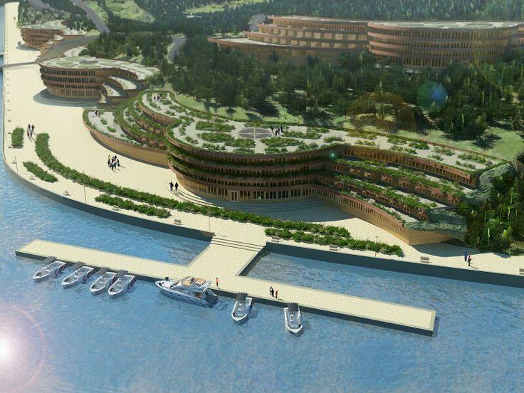 ЗD визуализация проекта туристической базы на Байкале. www.sanya-ad.ru