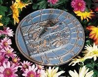 Whitehall Hummingbird Sundial - Verdigris by Woodside Gardens. $45.00. Hand Cast, Hand Painted, Hand Finished. Made in the USA. Highly Skilled Craftsmen Make Your Item. Each Unit Hand Made. The Whitehall Products Hummingbird Sundial - Verdigris is the perfect final touch to your outdoor living area. Featuring rust-free, recycled aluminum construction, this carefully finished sundial comes complete with unique accents.