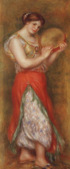 Пьер-Огюст Ренуар Танцующая девушка с тамбурином 1909 г. Национальная галерея, Лондон