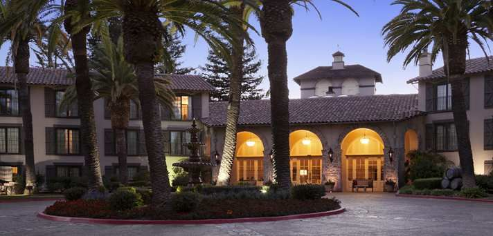 Embassy Suites Napa Valley Hotel, CA - Exterior 1.0 from downtown. $350/night 2dbl + sofa bed