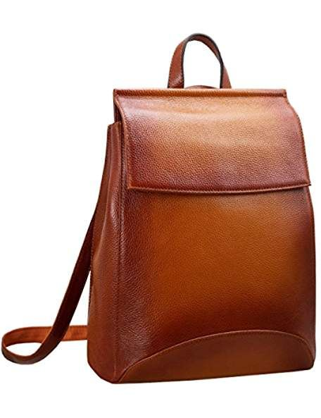 Womens Leather Backpack Casual Style Flap Backpacks Daypack for Ladies 5141df314eb17