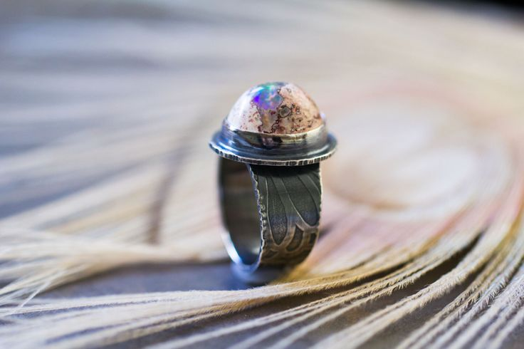 Mexican Raw Fire Opal Ring, Opal Sterling Silver Ring - Boulder Opal Ring - Keeper of Secrets - Size 6.25 by jaunebleu on Etsy https://www.etsy.com/uk/listing/261110952/mexican-raw-fire-opal-ring-opal-sterling