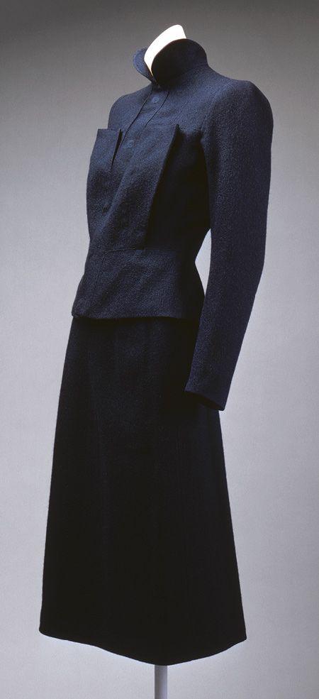 Suit, fall/winter 1938–39. Elsa Schiaparelli (Italian, 1890–1973). Wool.