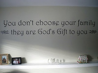 vinyl family wall quote