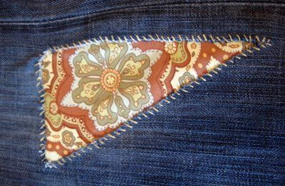 Finally! A how-to for patching jeans fashionably with NO MACHINE! ~ET