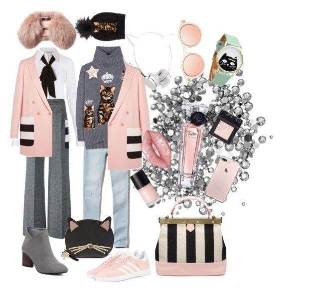 """Stripe life"" by explorer-14768142065 on Polyvore featuring мода, Diane Von Furstenberg, MaxMara, adidas Originals, Hollister Co., Dolce&Gabbana, Tammy & Benjamin, Lancôme, Lime Crime и Kate Spade"