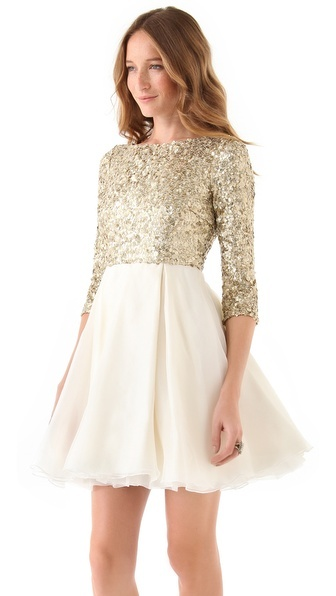 sparkle dress for the holidays / alice + olivia