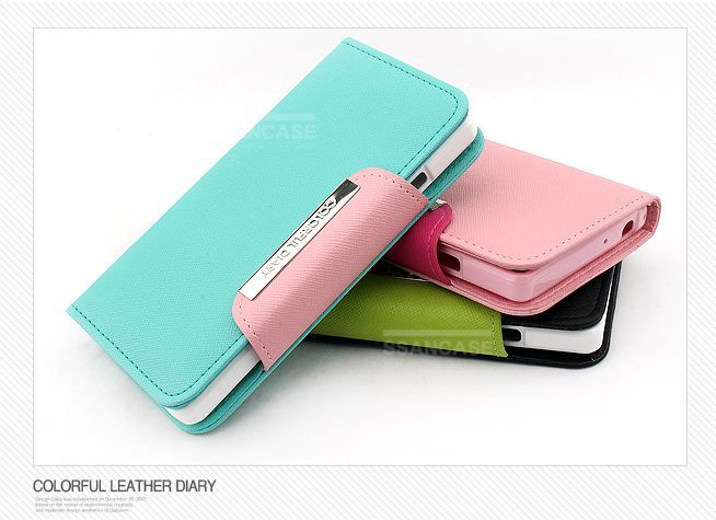 Colorful Leather Wallet Case for LG Optimus L9