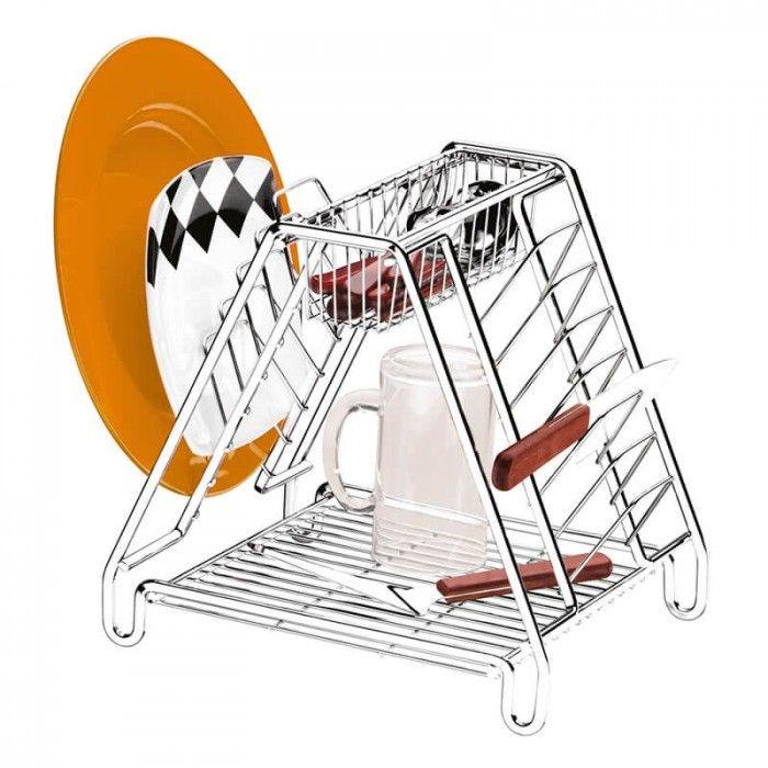 Escorredor de Louças Triangular Compacto - 5 anos de Garantia Supermercado Digital