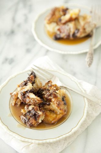 Paula Deen Chocolate Bread Pudding with Rum Toffee Sauce.  This sounds so good.  One can never have too many bread pudding recipes.