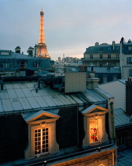 bluepueblo: Dusk, Paris, France photo via anja