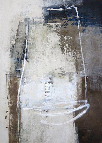 """Renate Migas, """"Strukturen vor Schwarz II"""" Mit einem Klick auf 'Als Kunstkarte versenden' versenden Sie kostenlos dieses Werk Ihren Freunden und Bekannten."""