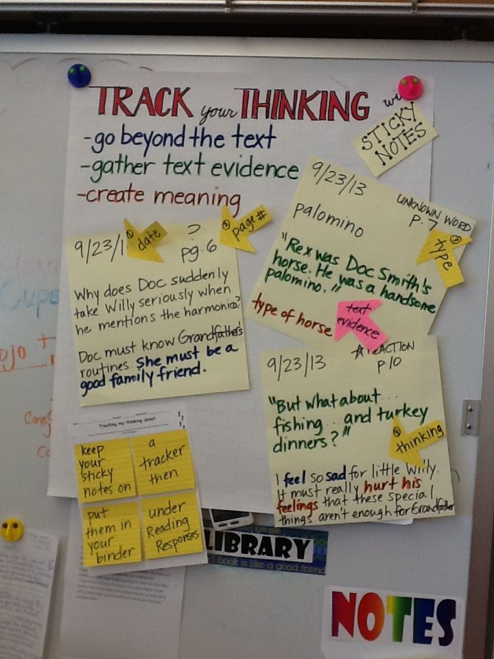 The fourth graders are learning how to track their thinking.