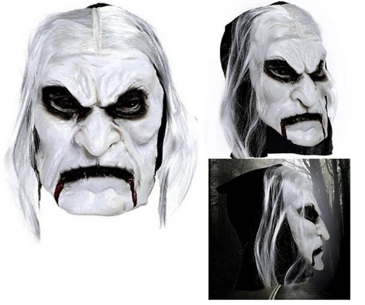 Mask With Hair Adult Scary Costume Zombie Cosplay Masquerade Halloween Party New #Ridsmc #Thisscarymaskincludeshair
