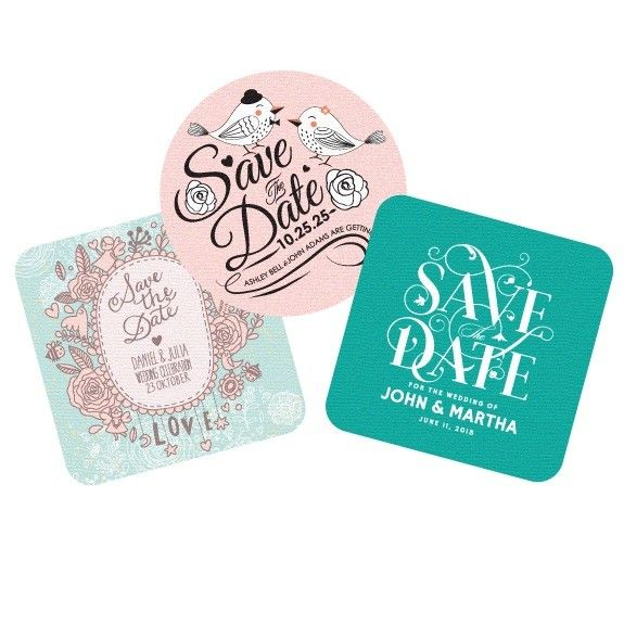 Save the Date Coaster Invitations