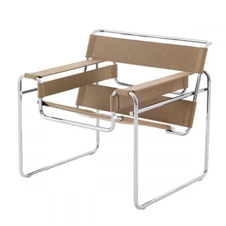Knoll International Wassily Sessel Segeltuch, Marcel Breuer - designikonen.de | OnlineShop fuer Designer-Moebel | stilwerk hamburg