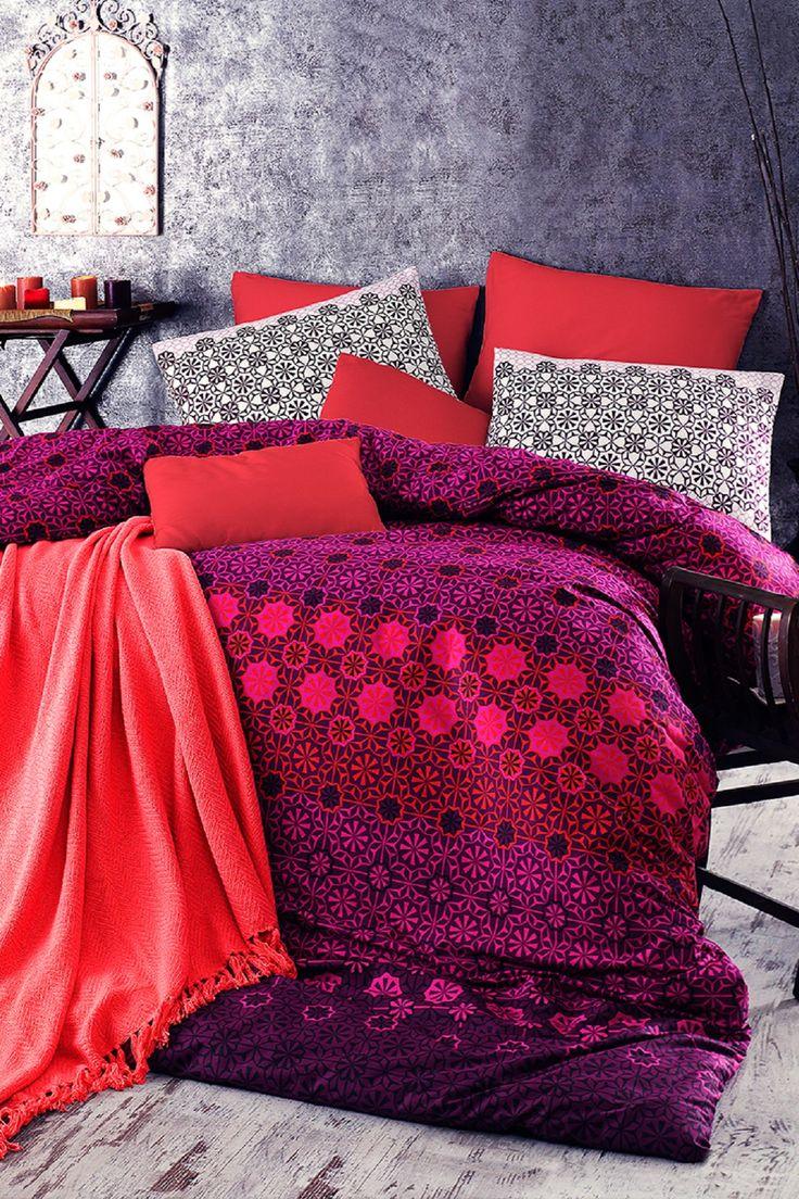 Debage | Vals Queen Duvet Set - Red/Purple | Nordstrom ...