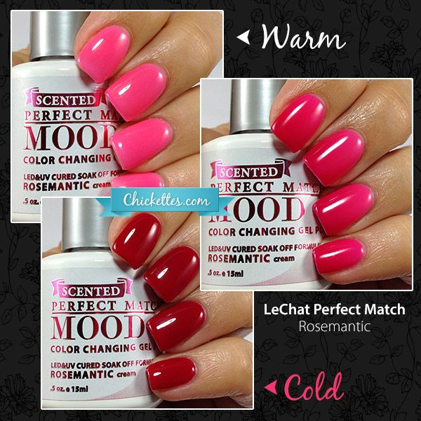 LeChat Rosemantic Limited Edition Scented Mood Polish - Chickettes.com