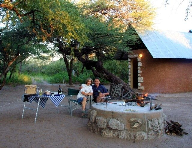 Onguma Bush Camp is 9km north of the Namutoni Gate of the Etosha National Park.