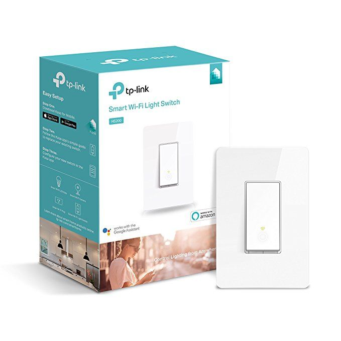 Kasa Smart Wi Fi Light Switch By Tp Link Control Lighting From Anywhere Easy In Wall Installation Single Pole Only No Light Switch Tp Link Smart Lighting