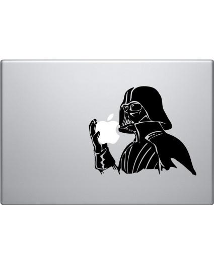 Darth Vader Holding Apple Macbook Decal: Vader Holding, Darth Vader, Macbook Decal