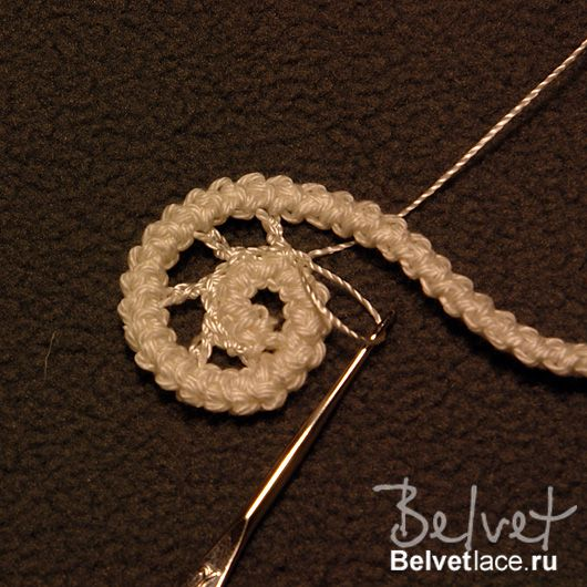 Design  crochet lace by Victoria Belvet - spiral crochet tutorial