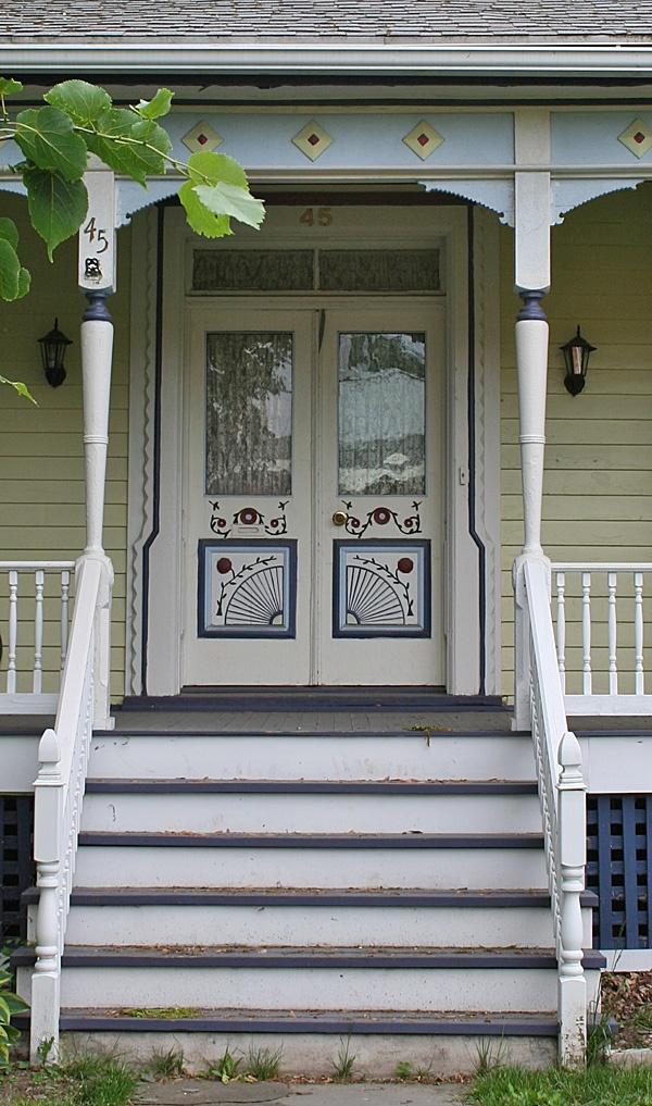 painted double door waterloo new york usa double doorsfinger