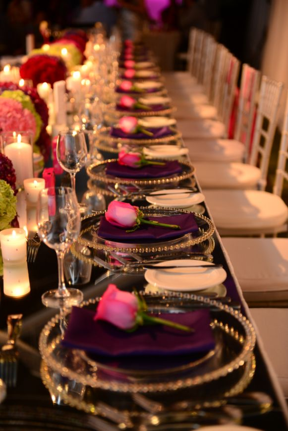 Elegant Table Setting For Wedding Party & 415 best Reception tables to Love images on Pinterest | Harvest ...