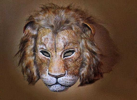 Lion Nemean  Paper Mask  Paper mache Nemean Lion Mask by RheaMasks