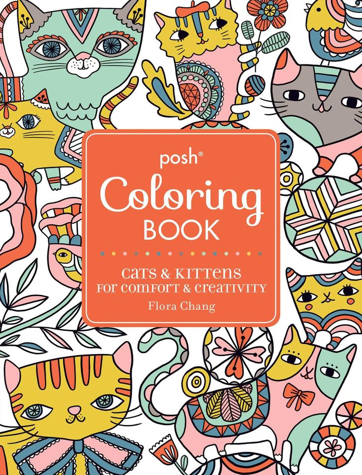 Posh Adult Coloring Book Cats Kittens For Comfort