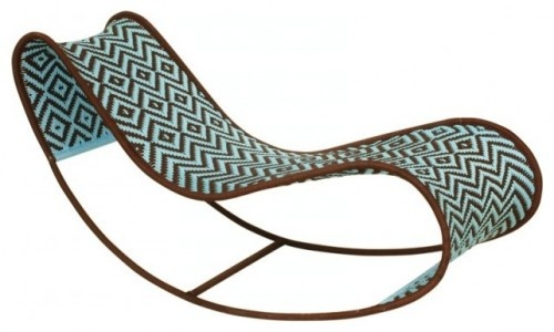 Bayekou Rocking Chaise by Moroso Mafrique eclectic outdoor chaise lounges